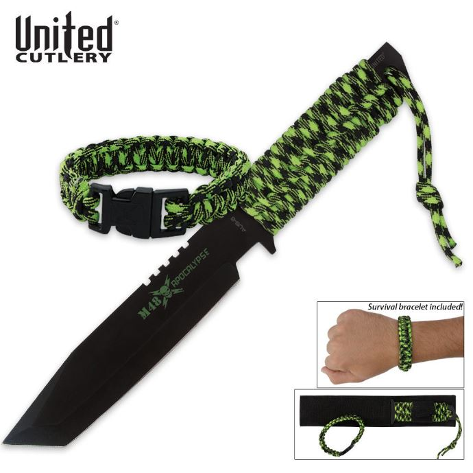 United M48 Apocalypse Fighter w/Paracord Bracelet (Online Only)
