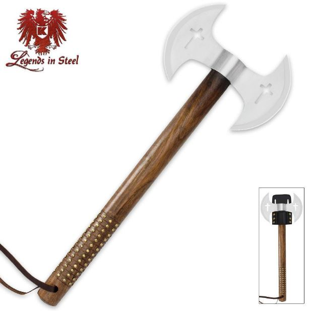 United Legends in Steel 3059 Double Blade Crusader Axe (Online)