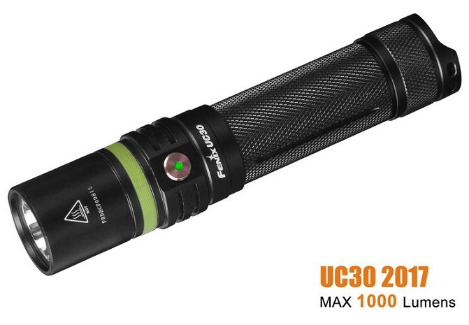 Fenix UC30 2017 Rechargeable Flashlight - 1000 Lumens