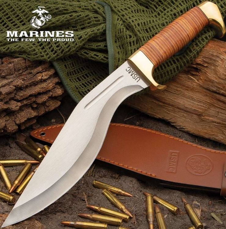 United Cutlery USMC Leather Handle Kukri UC3329 (Online Only)