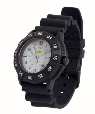 UZI Protector Quartz Watch 002R with Black Rubber Strap