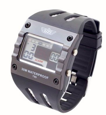 UZI Digital Sport Watch 799 with Rubber Strap (Online Only)