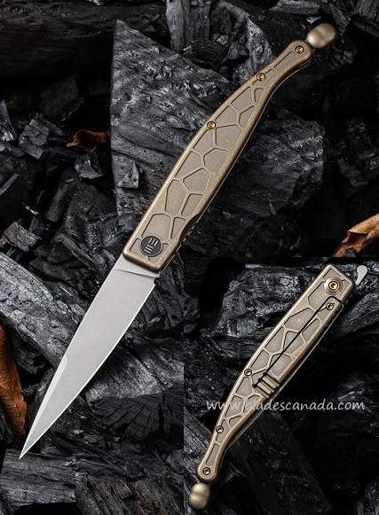 WE Knife Roman Framelock Folder, S35VN, Bronze Titanium, WE2008A
