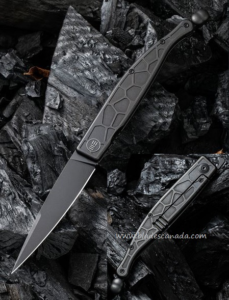WE Knife Roman Framelock Folder, Black S35VN, Black Titanium, WE2008C