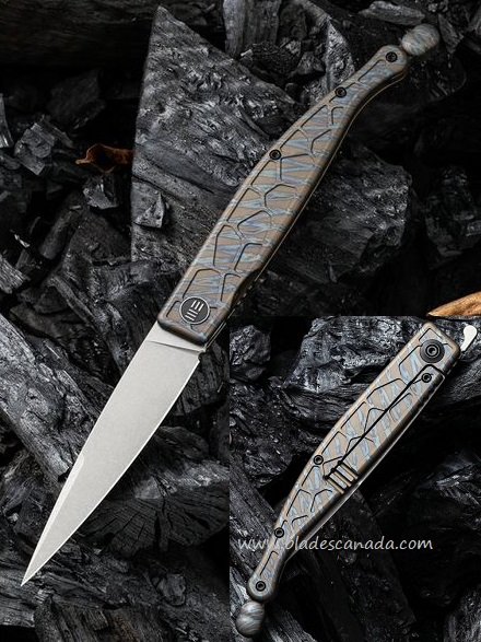 WE Knife Roman Framelock Folder, S35VN, Flamed Titanium, WE2008D