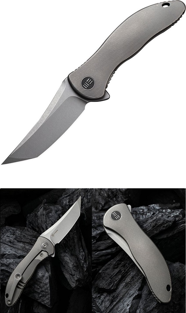WE Knife Mini Synergy Folder Tanto CPM 20CV, Integral Titanium Framelock WE2012A