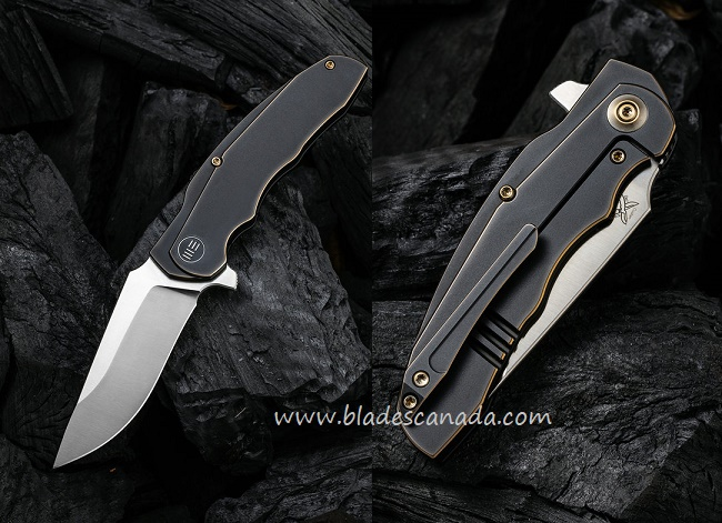 WE Knife Skreech CPM-20CV Titanium Framelock Flipper - Antique Bronze 2014A