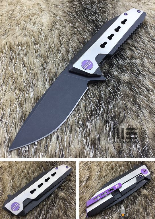 WE Knife 602C Black Stonewash S35VN Titanium Framelock
