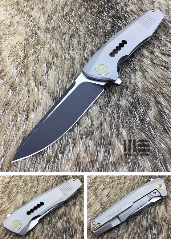 WE Knife 603I S35VN Titanium Framelock Grey