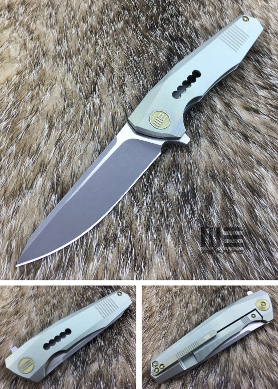 WE Knife 603H Stonewash S35VN Titanium Framelock, Green