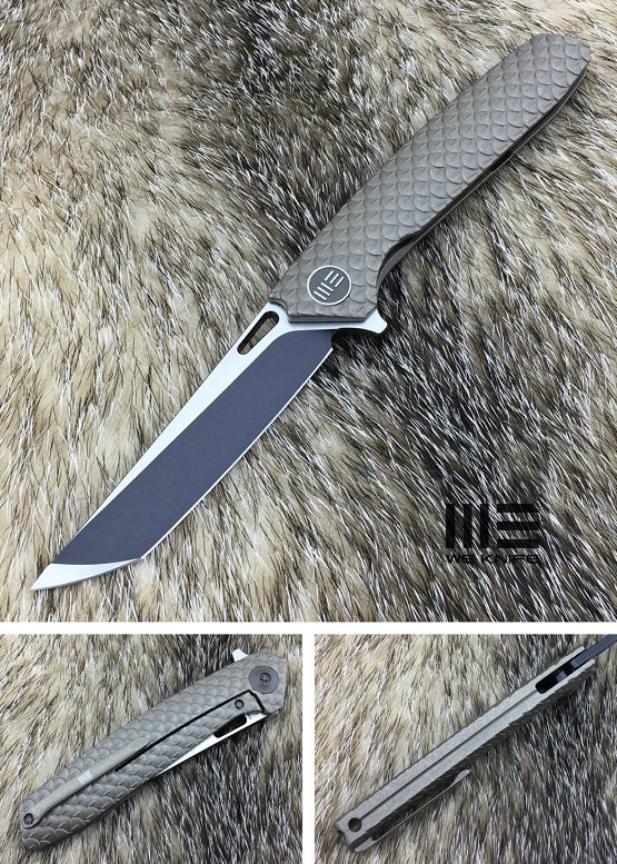 WE Knife 604R Dragon Scale Tanto Black S35VN Titanium - Bronze
