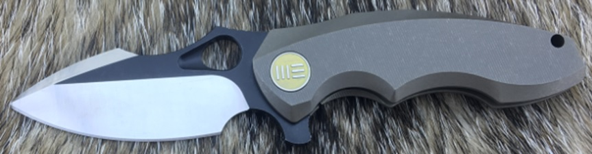 WE Knife 605K Satin/Black S35VN Titanium Framelock - Bronze (Online Only)