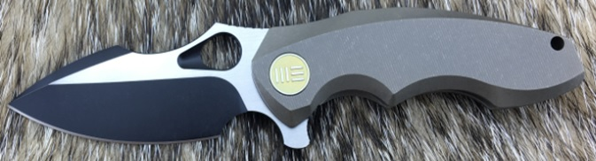 WE Knife 605L Black/Satin S35VN Titanium Framelock - Bronze