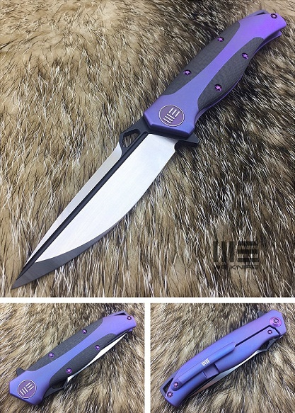 WE Knife 606CFA S35VN Carbon Fiber Titanium Framelock - Blurple