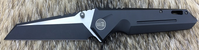 WE Knife 609I Reverse Tanto Two-Tone, Titanium Framelock - Black