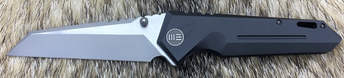 WE Knife 609J Reverse Tanto SW Satin S35VN, Titanium Black