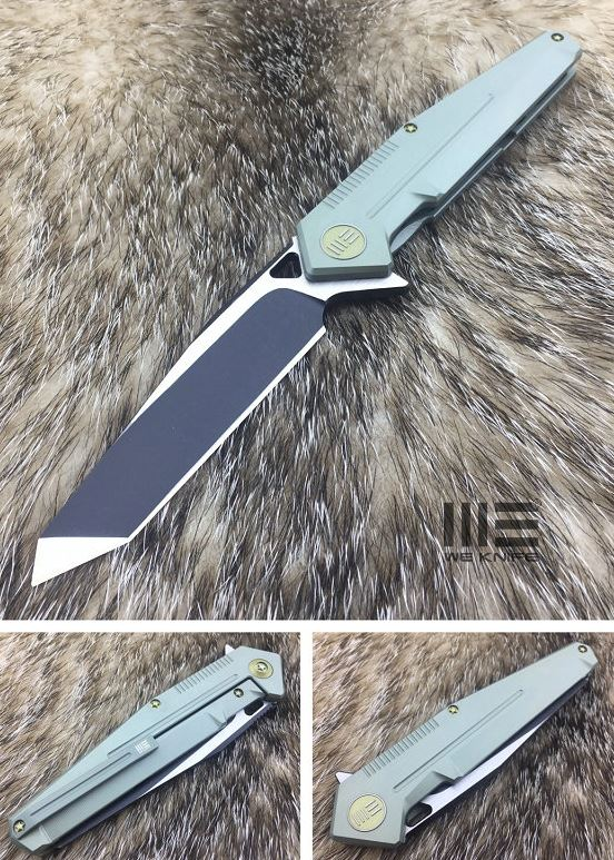 WE Knife 610E Tanto S35VN Green Titanium Flipper
