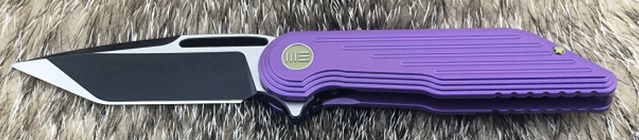 WE Knife 616A Purple Titanium Framelock M390 Tanto Satin/Black