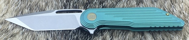 WE Knife 616D Green Titanium Framelock M390 Tanto Satin