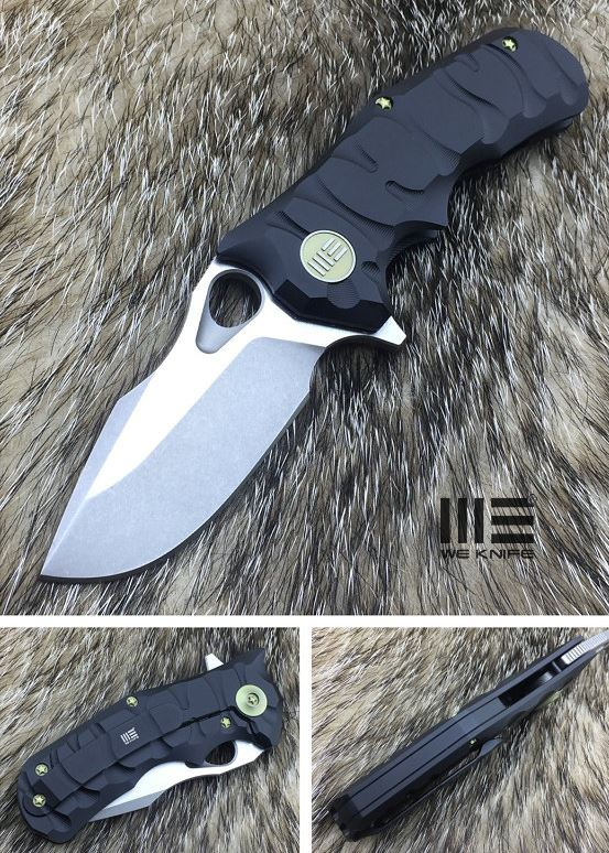 WE Knife 619J Black Titanium Framelock M390 Satin
