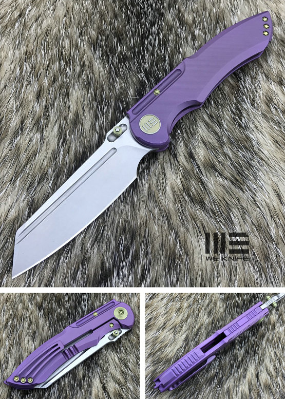 We Knife 620B Purple Titanium Framelock, M390 Stonewash Satin