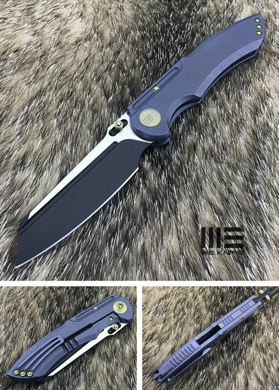 We Knife 620C Blue Titanium Framelock, M390 Black Satin