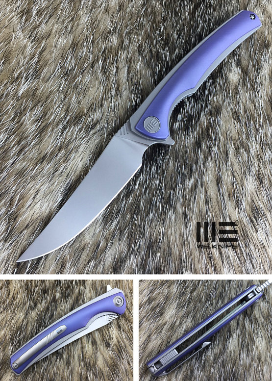 We Knife 704B Flipper M390 Titanium Linerlock - Handrubbed Blue