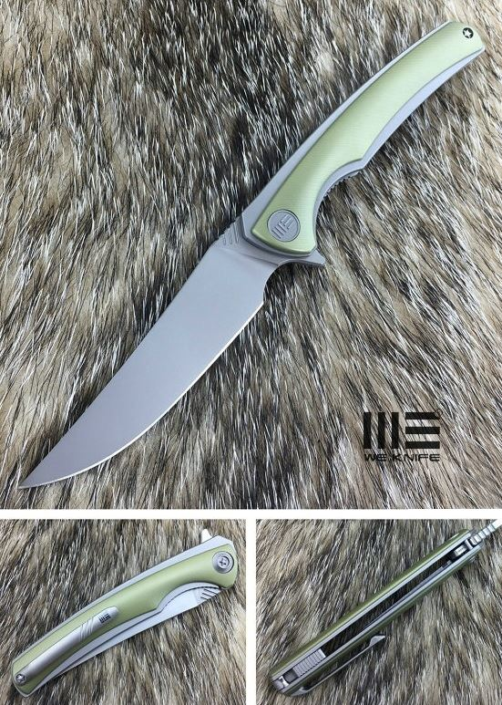 We Knife 704D Flipper M390 Titanium Linerlock - Handrubbed Gold
