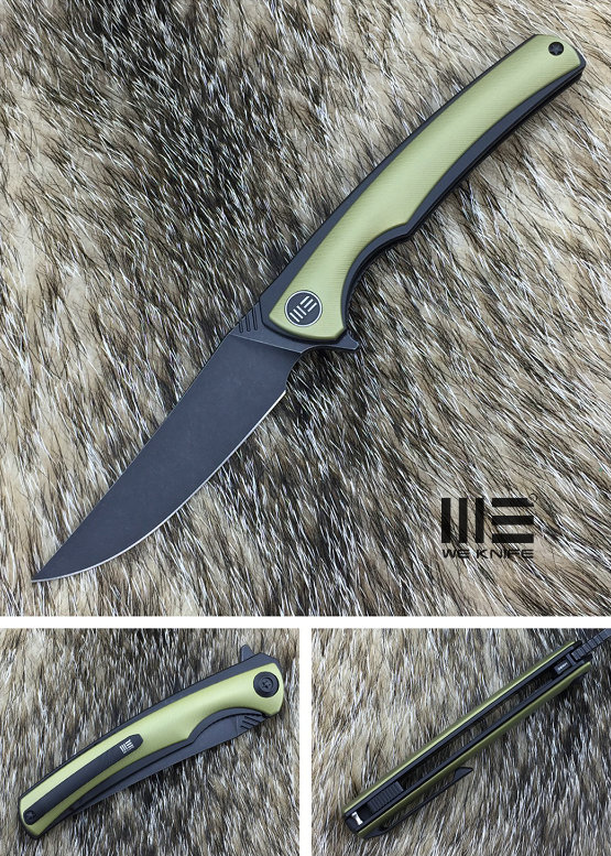 We Knife 704I Flipper M390 Black, Titanium Linerlock - Gold