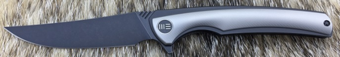 We Knife 704J Black Stonewash M390 Titanium Linerlock - Grey