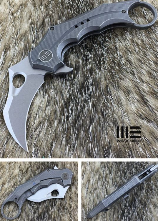 WE Knife 708D Framelock Karambit, S35VN Blade, Titanium Handle, WE708D