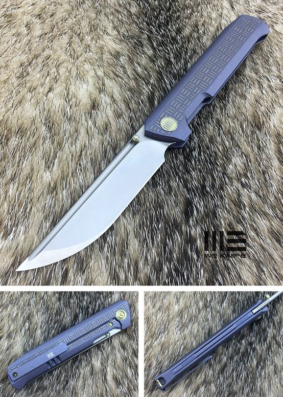 WE Knife 710D Straight Up Satin M390 - Blue Ti