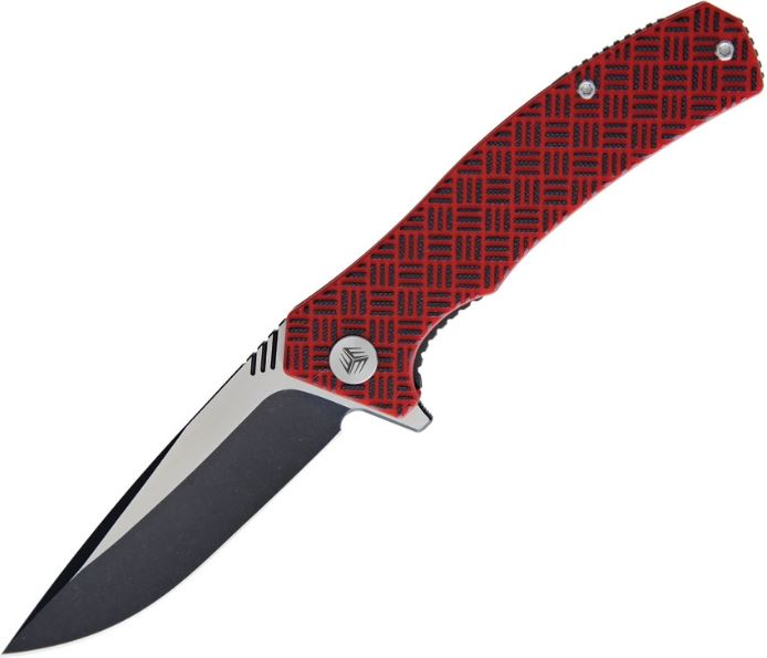 WE Knife Blitz Red/Black Folding Knife, VG10, WE711C