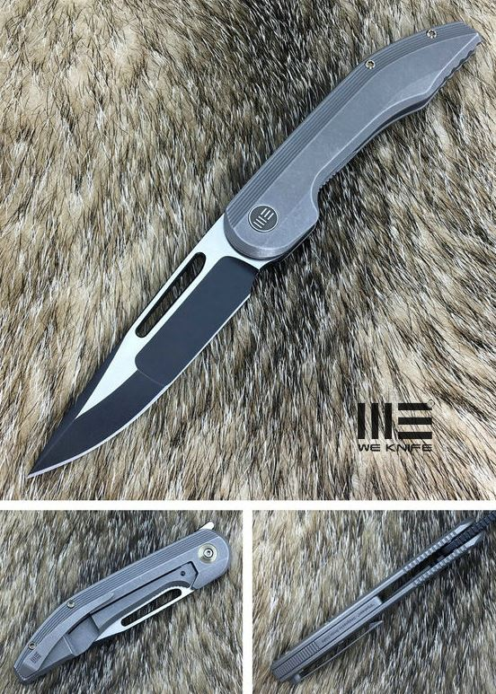 WE Knife 714B Slipstream Black S35VN Titanium - Grey