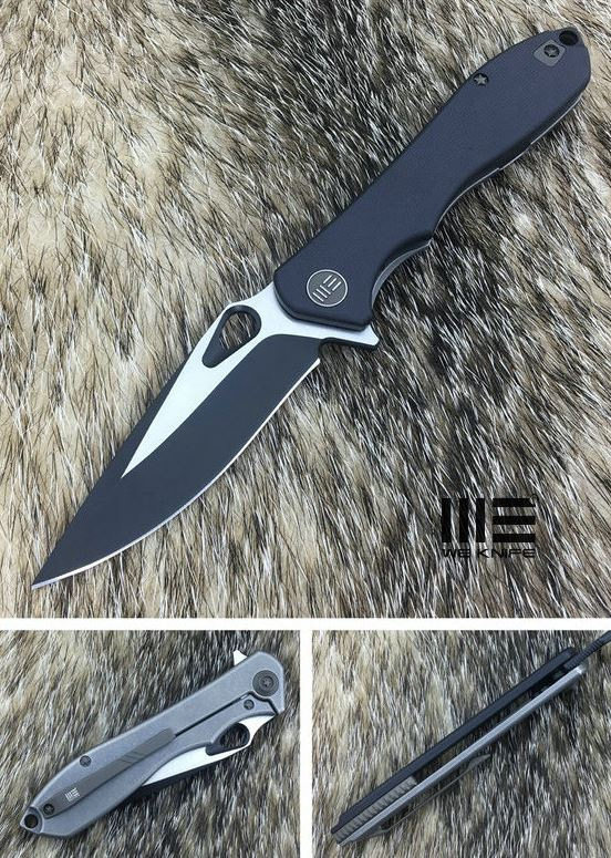 WE Knife 715E Ignition Black VG10 - Black G-10