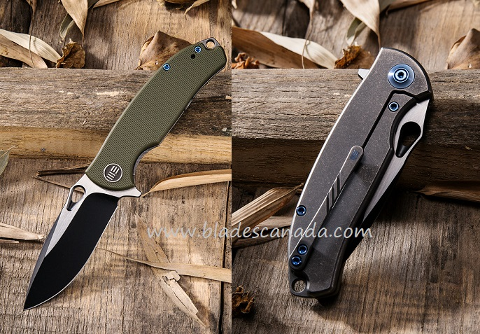 WE Knife 803A Rectifier S35VN Black, OD Green G-10
