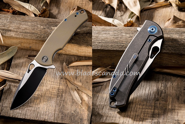 WE Knife 803C Rectifier S35VN Black, Tan G-10