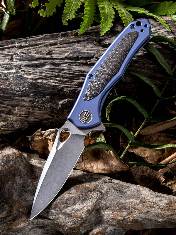 WE Knife 804B VaporS35VN Carbon Fiber/ Blue Titanium