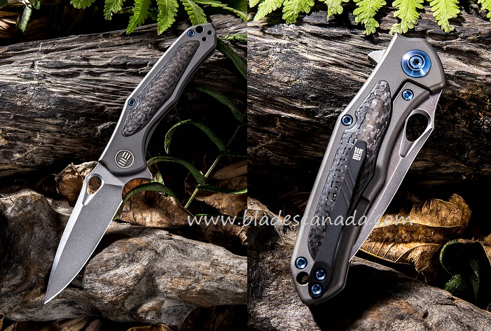 WE Knife 804D Vapor S35VN Carbon Fiber Titanium Framelock