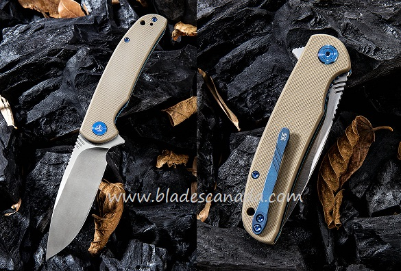 WE Knife 809B Practic M390 Linerlock Tan G-10 Handle