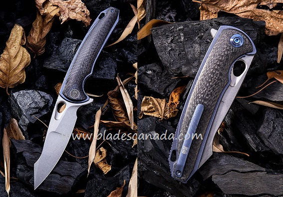 WE Knife 810A Yucha S35VN Carbon Fiber Blue Ti