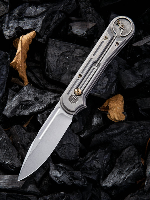 WE Knife 815F Double Helix S35VN Grey Titanium