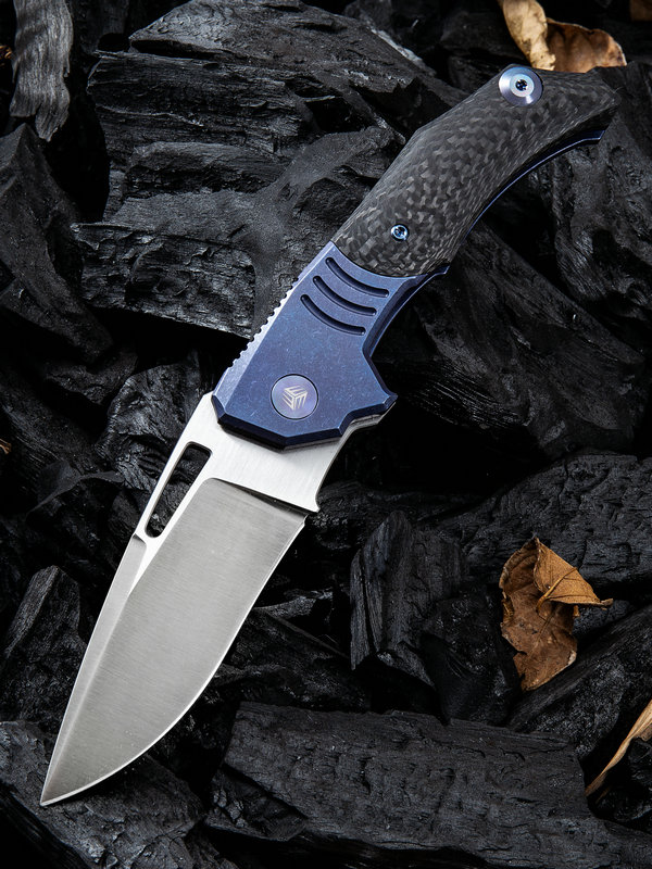 WE Knife 817A Stixx M390 Titanium Blue & Carbon Fiber