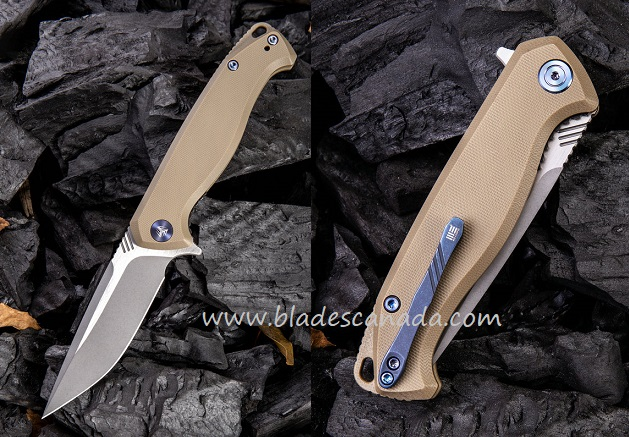 WE Knife 818D Streak M390 Tan G-10 Handle (Online Only)
