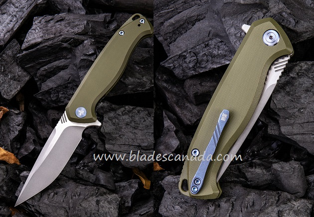 WE Knife 818C Streak M390, OD Green G-10 Handle