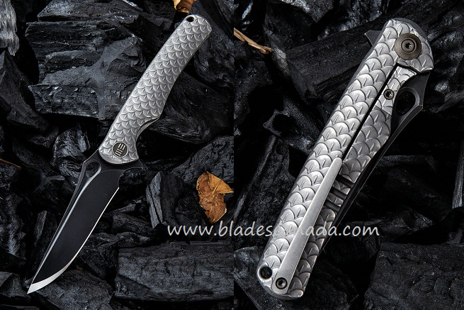 WE Knife 819D Drakon M390 Black Blade,Titanium Framelock