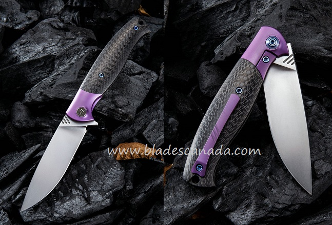 WE Knife 901A Deacon M390 Carbon Fiber Purple Ti