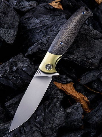 WE Knife 901C Deacon M390 Carbon Fiber Gold Ti