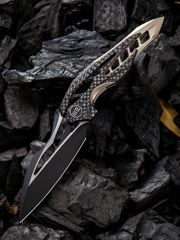 WE Knife 906CFB Arrakis M390 Titanium & Carbon Fiber