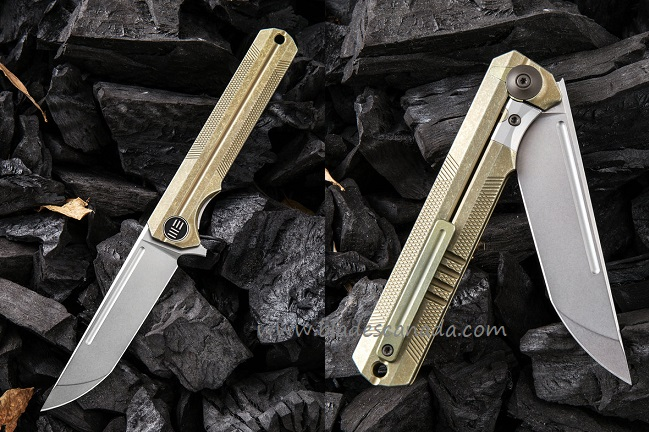 WE Knife 909B Syncro S35VN Titanium Framelock - Gold